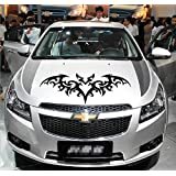 車 ステッカー カーステッカー 反射素材 フード ドア 車アクセサリー 車用品 スペアタイヤ 蝙蝠 ステッカーkoumori01 (ブラック)
