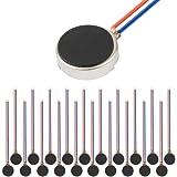 tatoko 20PCS 10mmx3mm Mini Vibration Motors DC 3V 12000rpm Flat Coin Button-Type Micro DC Vibrating Motor for Mobile Cell Pho