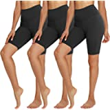 """TNNZEET Biker Shorts for Women – 8"""" High Waisted Stretchy Yoga Pants for Running, Workout, Cycling"""