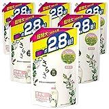 【ケース販売】さらさ 無添加 植物由来の成分入り 柔軟剤 詰め替え 1250mL(約2.8倍)×6袋