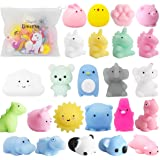 POKONBOY 25 Pack Mochi Squishy Toys-Mini Squishy Toys with Unicorn Bag Party Favors for Kids Mochi Animals Squishy Panda Kawa