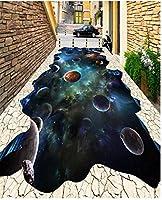 Wapel 壁画の 380 d 壁紙カスタム サイズ 3 D 床絵壁画スター天河 3 D 立体フロアー リング フィギュア自己接着壁紙 430x300cm