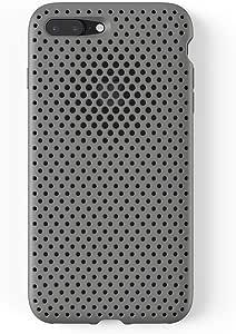AndMesh iPhone8Plus iPhone7Plus ケース Mesh Case シンプル 放熱 耐衝撃 Qi対応 グレー 612-955799