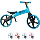 Yvolution Y Velo Senior Balance Bike for Kids   No Pedals Training Bicycle Ages 3 to 5 Years Old (Blue),Small