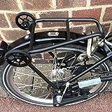 BROMPTONリアラックミニ荷物棚+ 2イージーホイールBLACK EDITION軽量 BROMPTON Rear Rack Mini Luggage Shelf + 2 Easy Wheels Lightwe..