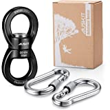 AusKit Swing Swivel, 30 KN Safest Rotational Device Hanging Accessory with Carabiners for Web Tree Swing, Swing Setting, Aeri
