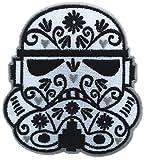 Loungefly【ラウンジフライ / Star Wars スターウォーズ ワッペン / ストーム・トルーパー フローラル柄 / 白×黒】 [並行輸入品]