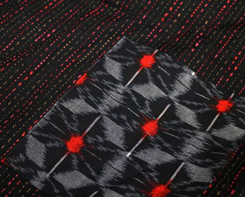 四つ紐前合わせはんてん ロング裏キルト袢天/長丈/宮田織物951Y/久留米手づくり