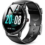 [Amazon限定ブランド] Kawayi スマートウォッチ 1.69インチ大画面 Bluetooth5.1 腕時計 ストップウォッチ 活動量計 歩数計 目覚まし時計 スポーツウォッチ IP67防水 SMS/Twitter/Line通知 長持ちバッテ
