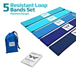 ARRIA FIT Resistance Bands Set of Five Resistance Loop Bands for Fitness Booty Building Leg and Glute Activation Exercise...
