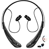 Bluetooth Neckband Headphones with Magnetic Earbuds, V4.2 Flexible Wireless Bluetooth Headset with Mic Sports Headphones for