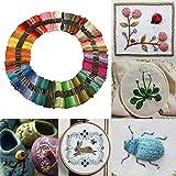 8メートル150異なる色のクロスステッチのスレッドDIY手芸刺繍ニット糸