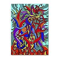 商標Fineアートali3364-c1419gg Devon The Dragon Alive by Kathy g. AhrensギャラリーWrappedアート 24x32 ALI3364-C2432GG