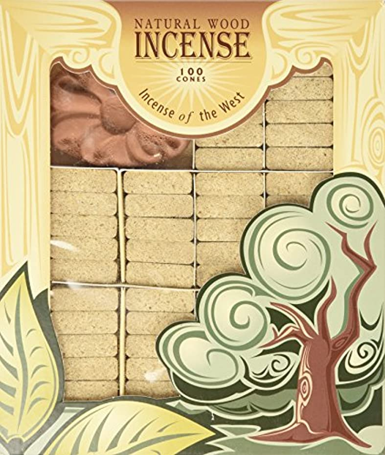 寄付本物の肘Pinon Wood Incense - 100 Bricks Plus Burner - Incienso De Santa Fe