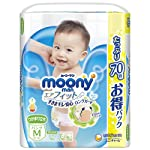 【Amazon.co.jp限定】尤妮佳(Moony Man)M 站立(6~11kg)空气贴身 70片
