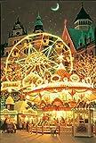 1000ピース 光るジグソーパズル めざせ! パズルの達人 笹倉鉄平 ブレーメンの移動遊園地 ヒカルパズル(50x75cm)