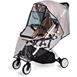 Bemece Stroller Rain Cover Universal + Mosquito Net (2-Piece Set), Baby Travel Weather Shield