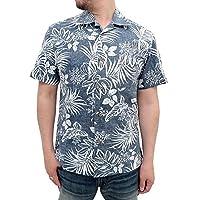 (ルーシャット)ROUSHATTE アロハシャツ 大きいサイズ 綿裏使い 20color 3L クラシックブルー