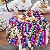 国立風ビーチ毛布ビーチ毛布ビーチの旗メキシコ風ピクニックタオルピクニック毛布手描き毛布家毛布