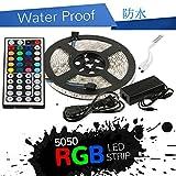PSE規格 防水 コンプリートセット5M RGB 5050 ストリップ300個 LED 44キー コントローラ +5 A/12V 電源アダプタ 特典 延長用 コネクタ ケーブル1本お付けします