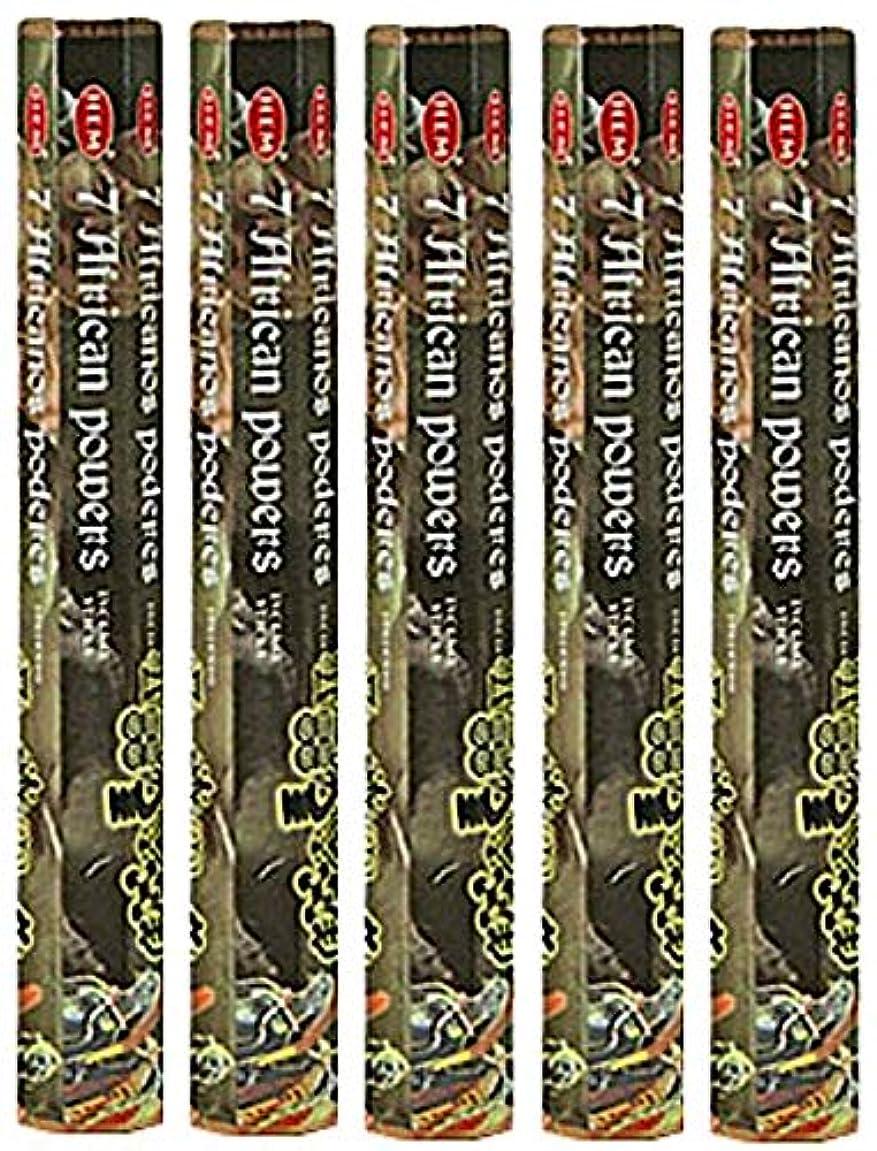 カジュアル逸脱作曲家Hem 7 African Powers 100 Incense Sticks ( 5 x 20スティックパック)