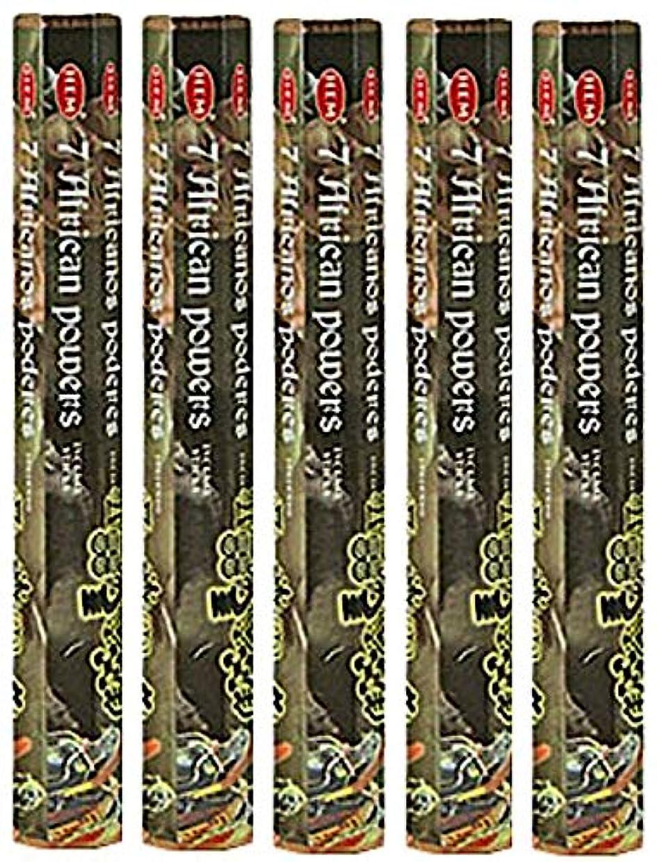 あなたが良くなりますストリップスマイルHem 7 African Powers 100 Incense Sticks ( 5 x 20スティックパック)