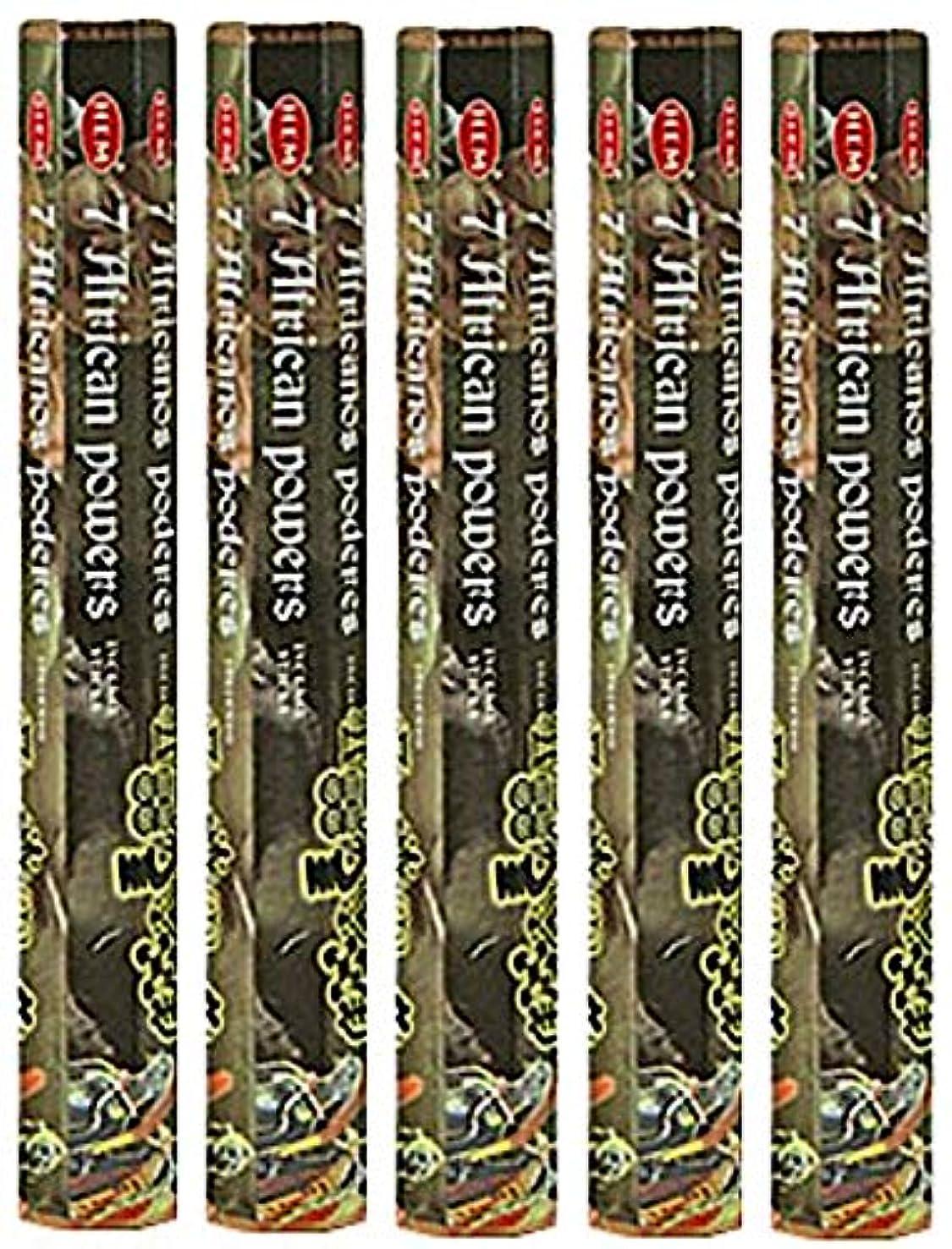 め言葉しがみつくエキスHem 7 African Powers 100 Incense Sticks ( 5 x 20スティックパック)