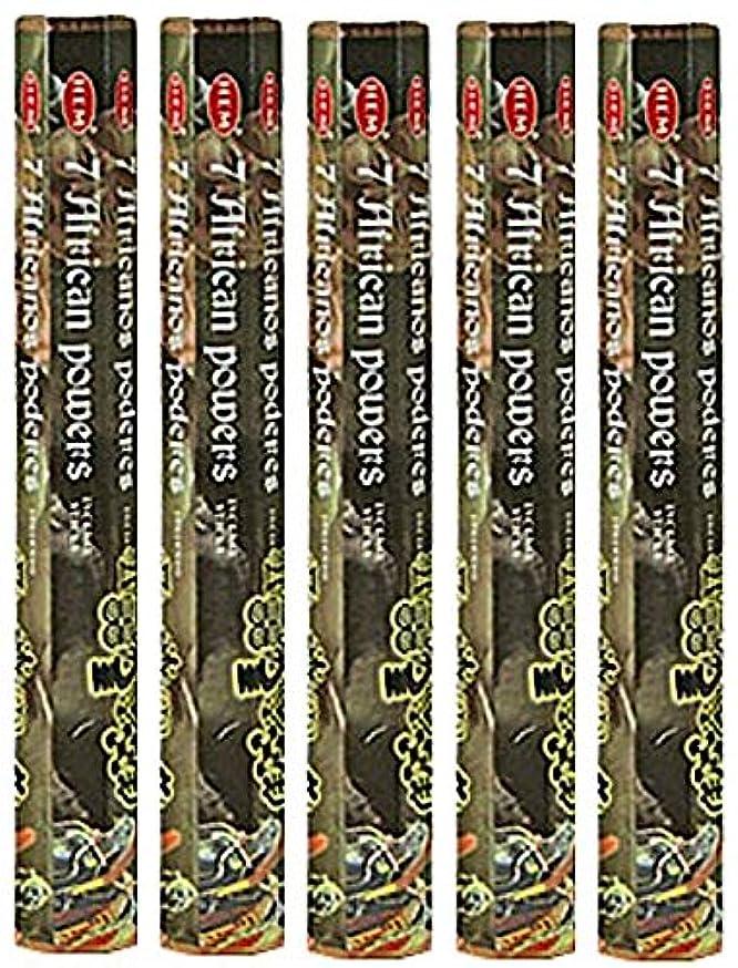 期間方向振る舞うHem 7 African Powers 100 Incense Sticks ( 5 x 20スティックパック)