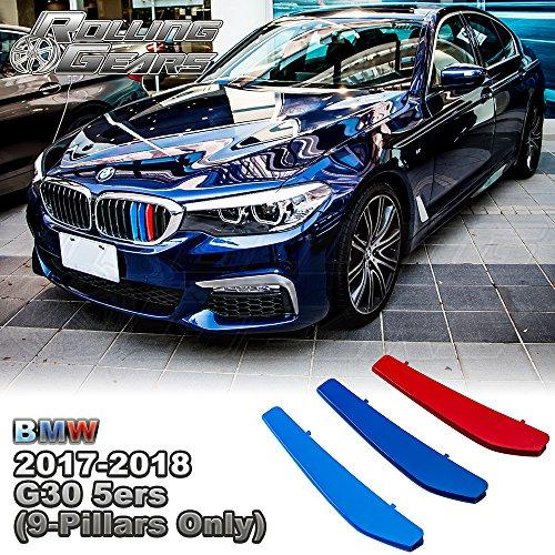 5層Painted m-colorグリル挿入トリムfor BMW 5シリーズ 9 Beams AN-G30