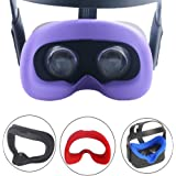 Esimen VR Face Silicone Mask Pad & Face Cover for Oculus Quest Face Cushion Cover Sweatproof (Purple)