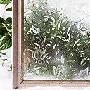 CottonColors 窓用フィルム 目隠しシート 何度も貼直せる 紫外線カット 遮熱 60x200cm ガラスフィルム ステンドグラス 蘭008