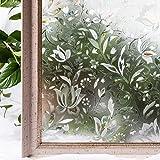 CottonColors 窓用フィルム 何度も貼り直せる 目隠しシート 断熱 紫外線カット ガラスフィルム 粘着剤なし 30x200cm 蘭008