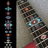 ネイティヴ・アメリカン エスニック (TR) ギターに貼る ポジションマーク インレイステッカー