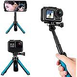 TELESIN Extendable Tripod Stand Mount Handheld Selfie Stick Telescopic Monopod Pole for GoPro Hero 8 Hero 7 Hero 6 Hero 5 Her