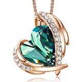 Necklace for Women, Crystal Jewellery 18K Rose Gold, Love Heart Crystal Pendant Jewelry Gifts for Wife/Mum/Girlfriend/Birthda
