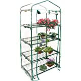 4 Tier Mini GreenhouseTransparent Plastic PVC Cover(Without Stand) Garden Warm Room Small Plant House Grow House for Garden O