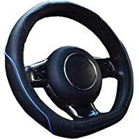 【Amazon限定ブランド】ZATOOTO ハンドルカバー sサイズ 軽自動車 D型 高級 本革 かっこいい 汚れ・滑り…