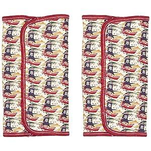 犬印本舗 ルーナエッセ リバティプリントショルダーベルトカバー レッド 141-3990