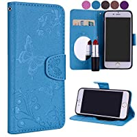 iPhone 6 Plus iPhone 6s Plus Flip Cover, Case, LoveBee 贅沢 Card Slot [Stand Feature] Leather Wallet Case Vintage Book Style Magnetic Protective Cover Holder for iPhone 6 Plus iPhone 6s Plus - Blue