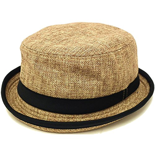 ハッピーハット 麻風ポークパイハット 60cm ベージュ hat-1090-02-60