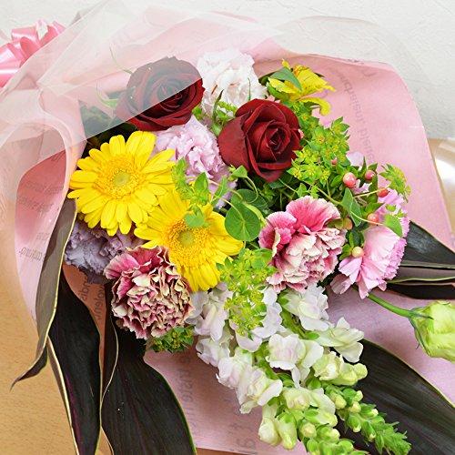 [エルフルール] 生花 おまかせ花束 結婚祝い プレゼント 送別 バラ 花束 誕生日 祝い 卒業 退職 敬老の日