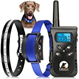 Paipaitek No Shock Dog Training Collar with Remote Vibration Beep Collar for Deaf Puppy Dogs Waterproof Rechargeable Humane D
