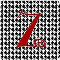 Carolines Treasures CJ1035-ZFC Set of 4 Monogram - Houndstooth Black Foam Coasters Initial Letter Z