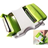 Vegetable Peeler with Double Stainless Steel Blade for Kitchen, Potato Peeler and Other Fruits or Kitchen Vegetable, Green