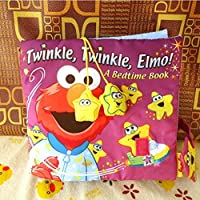 E-SCENERY Soft Activity Baby Book - Twinkle Twinkle Elmo, A Bedtime Book Early Educational Toys for Kids Baby