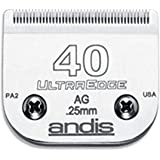 Andis Carbon-Infused Steel UltraEdge Super Blocking Dog Clipper Blade, Size-40, 1/100-Inch Cut Length (64076)