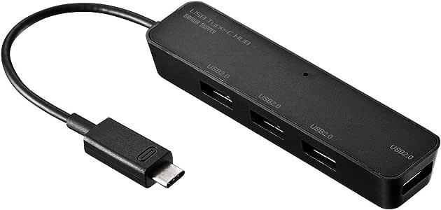 サンワサプライ USB Type Cハブ USB2.0 4ポート USB-2TCH3BK