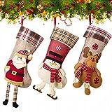 NONZERS クリスマスソックス ブーツクリスマスツリー飾り 靴下 プレゼント ギフト サンタクロース トナカイ 子供 キャンディ入れ 3D 可愛い (セット2)