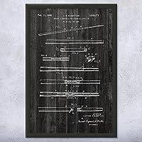 "Framed Two Pieceプールキュー特許アート印刷 8"" x 10"""