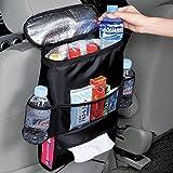 Solesyi 車用収納バッグ 車載収納袋ドリンクホルダー 車載後部座席収納袋 保温保冷機能付き